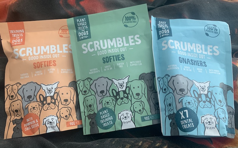 Scrumbles dog treats softies and gnashers